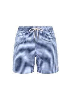 Ralph Lauren Polo Polo Ralph Lauren Logo-embroidered gingham swim shorts