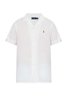 Ralph Lauren Polo Polo Ralph Lauren Logo-embroidered linen-blend shirt