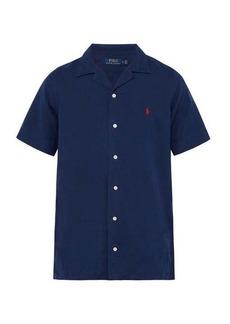 Ralph Lauren Polo Polo Ralph Lauren Logo-embroidered linen-blend shirt