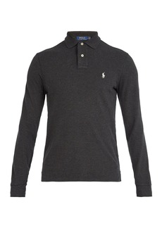 Ralph Lauren Polo Polo Ralph Lauren Logo-embroidered long-sleeved cotton polo shirt