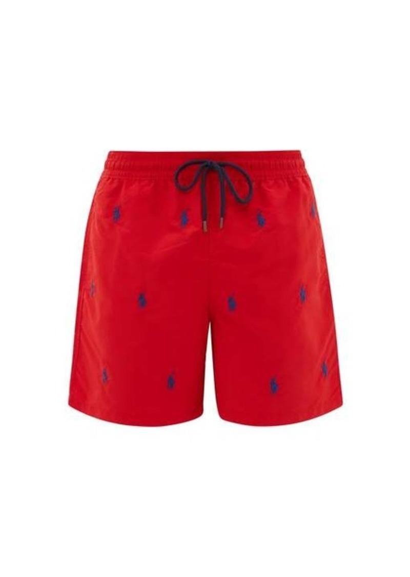Ralph Lauren Polo Polo Ralph Lauren Logo-embroidered shell swim shorts