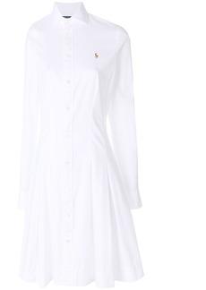 Ralph Lauren: Polo logo embroidered shirt dress
