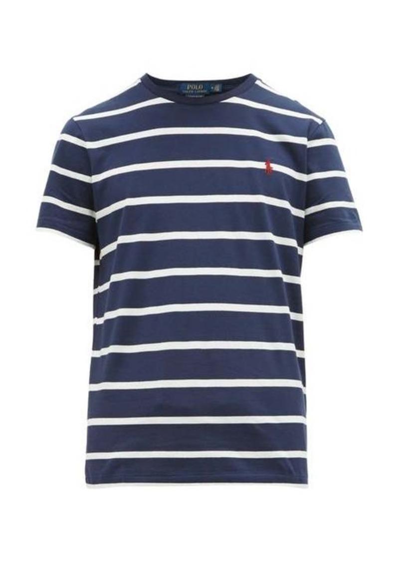 Ralph Lauren Polo Polo Ralph Lauren Logo-embroidered striped cotton-jersey T-shirt