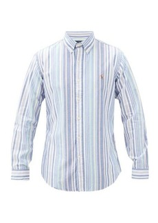 Ralph Lauren Polo Polo Ralph Lauren Logo-embroidered striped cotton-oxford shirt
