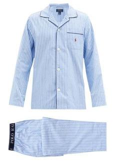 Ralph Lauren Polo Polo Ralph Lauren Logo-embroidered striped cotton pyjama set
