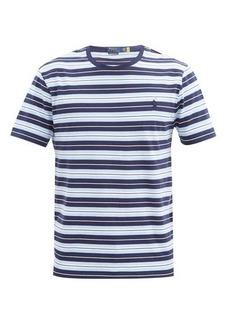 Ralph Lauren Polo Polo Ralph Lauren Logo-embroidered striped-cotton T-shirt
