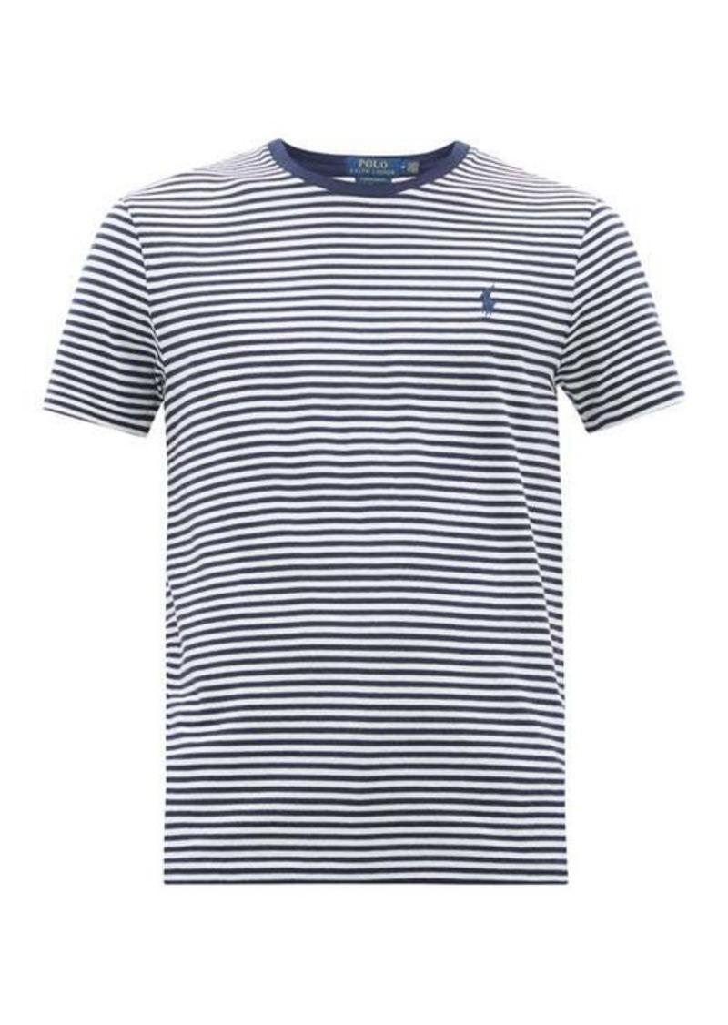 Ralph Lauren Polo Polo Ralph Lauren Logo-embroidered striped cotton T-shirt
