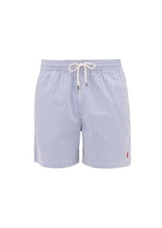 Ralph Lauren Polo Polo Ralph Lauren Logo-embroidered striped seersucker swim shorts