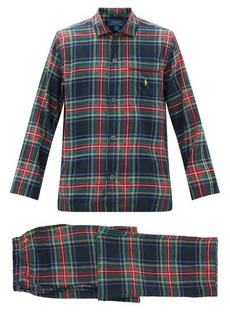 Ralph Lauren Polo Polo Ralph Lauren Logo-embroidered tartan cotton-flannel pyjamas
