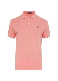 Ralph Lauren Polo Polo Ralph Lauren Logo-embroidered washed cotton-jersey polo shirt