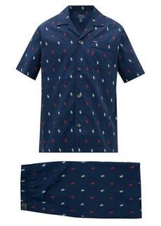 Ralph Lauren Polo Polo Ralph Lauren Logo-print cotton-poplin pyjamas