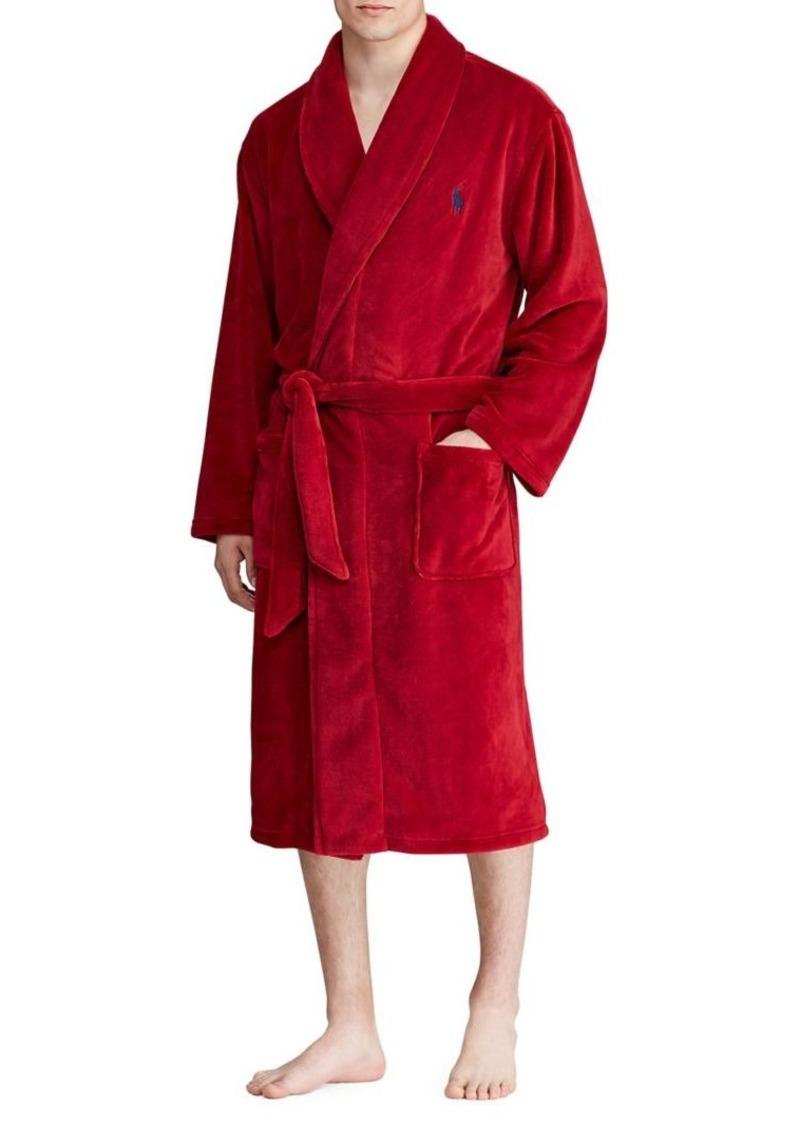 Polo Ralph Lauren Logo Self-Tie Robe