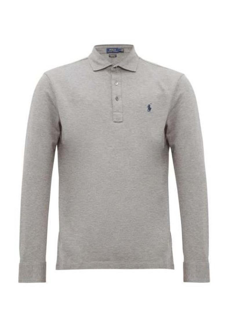 Ralph Lauren Polo Polo Ralph Lauren Long-sleeve slim-fit cotton-piqué polo shirt