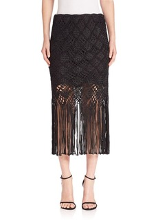 Polo Ralph Lauren Macrame Pencil Skirt