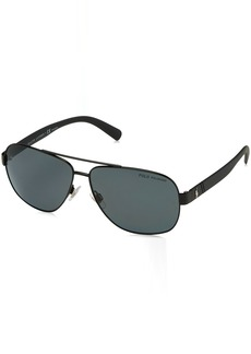 Ralph Lauren: Polo Polo Ralph Lauren Men's 0ph3110 Polarized Aviator Sunglasses demiglos black 60.0 mm