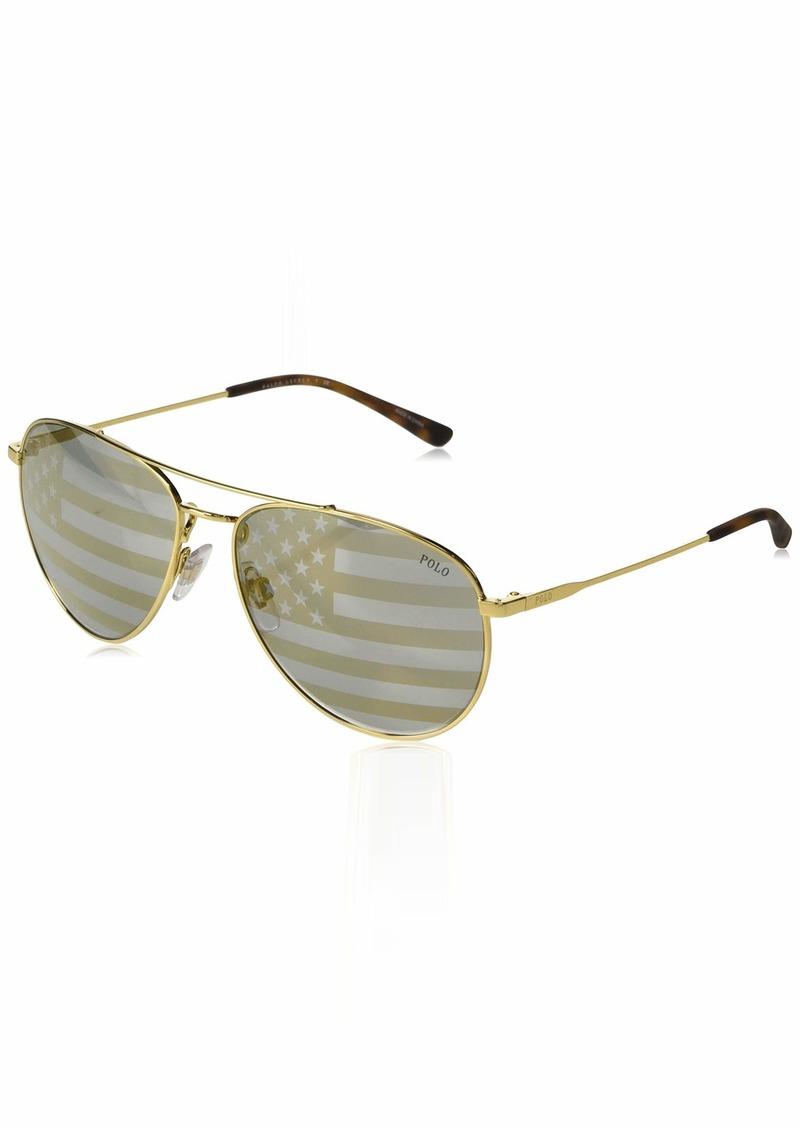 Ralph Lauren Polo Polo Ralph Lauren Men's 0ph3111 Aviator Sunglasses  59.0 mm
