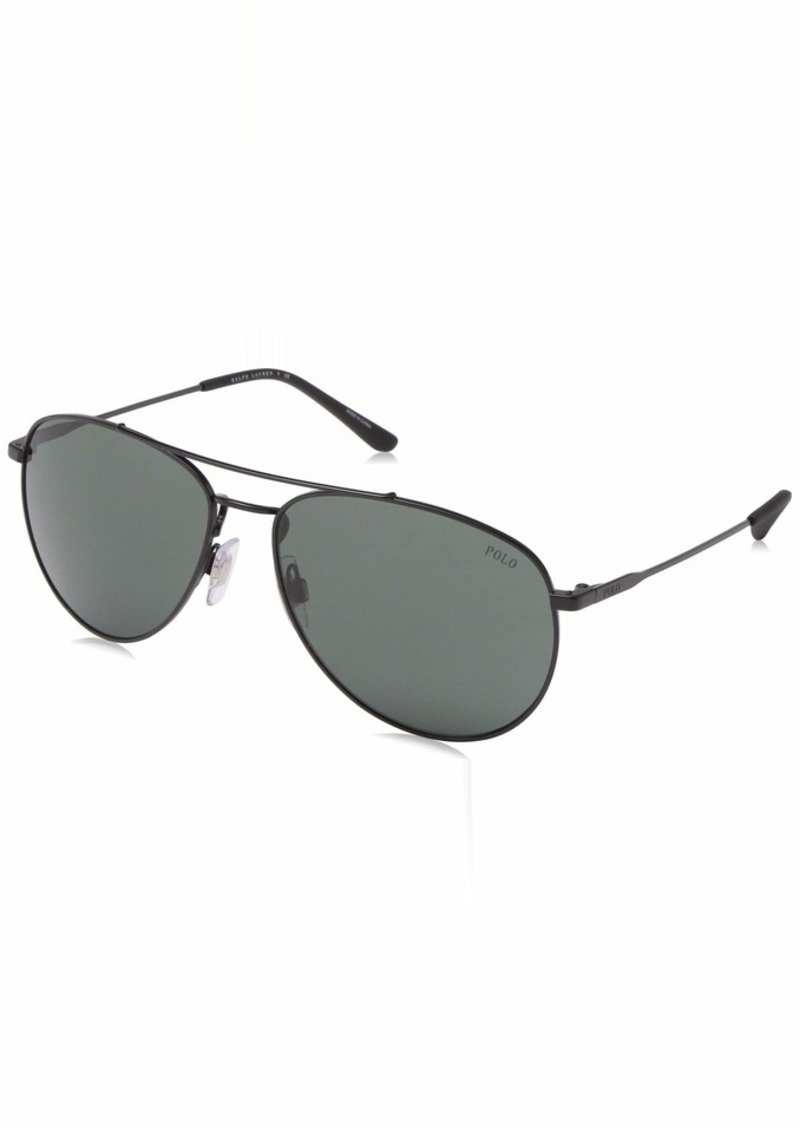 Ralph Lauren Polo Polo Ralph Lauren Men's PH3111 Aviator Metal Sunglasses  59 mm