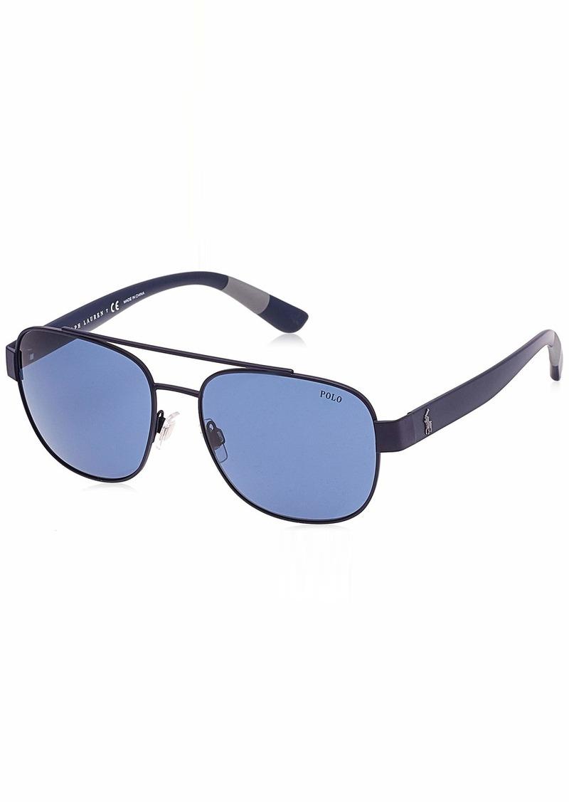 Ralph Lauren Polo Polo Ralph Lauren Men's 0ph3119 0PH3119 Square Sunglasses matte navy blue 58.0 mm