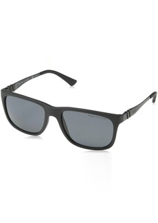 Ralph Lauren: Polo Polo Ralph Lauren Men's PH4088 Rectangular Sunglasses  55 mm