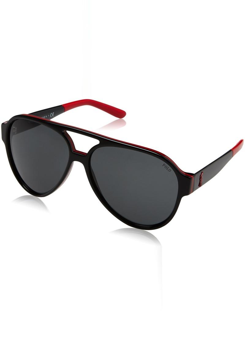 Ralph Lauren Polo Polo Ralph Lauren Men's PH4130 Aviator Sunglasses  61 mm