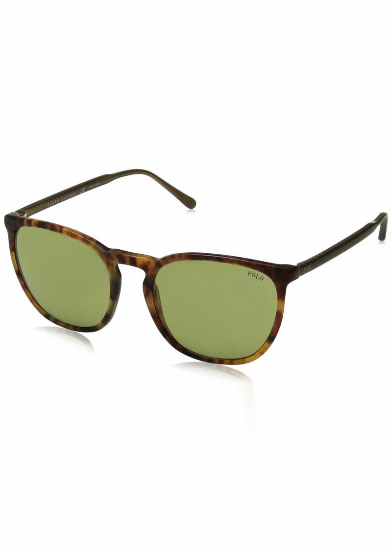 Ralph Lauren Polo Polo Ralph Lauren Men's 0ph4141 Square Sunglasses vintage havana jerry 54.0 mm