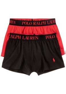 Ralph Lauren Polo Polo Ralph Lauren Men's 2 Pack Ultra-Soft Cotton Comfort Blend Trunks