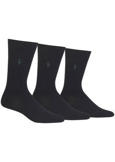 Ralph Lauren Polo Polo Ralph Lauren Men's 3 Pack Supersoft Dress Socks Extended Size 13-16