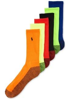 Ralph Lauren Polo Polo Ralph Lauren Men's Athletic Celebrity Crew Socks 6-Pack