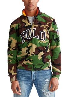 Ralph Lauren Polo Polo Ralph Lauren Men's Big & Tall Camo Knit Polar Fleece Quarter-Zip Sweatshirt