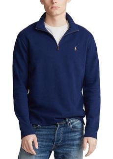 Ralph Lauren Polo Polo Ralph Lauren Men's Big & Tall Estate-Rib Quarter-Zip Pullover Sweater