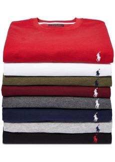 Ralph Lauren Polo Polo Ralph Lauren Men's Big & Tall Long Waffle Crewneck Pajama Shirt