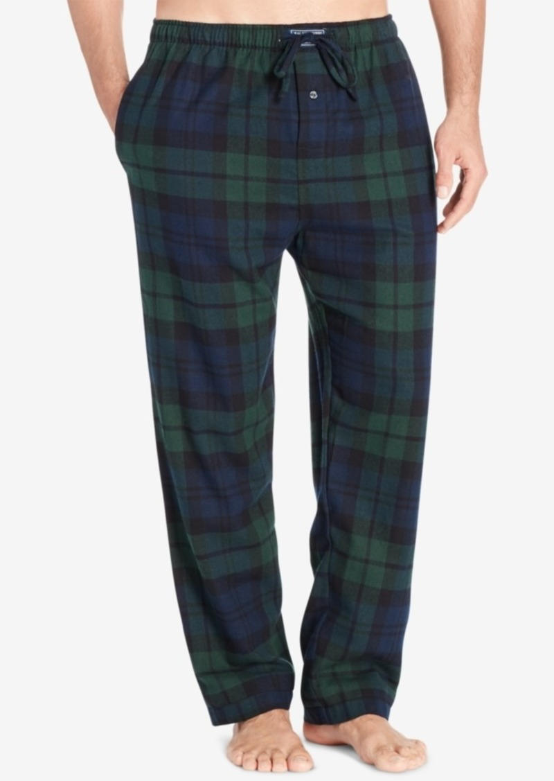 Ralph Lauren Polo Polo Ralph Lauren Men's Big & Tall Plaid Cotton Flannel Pajama Pants