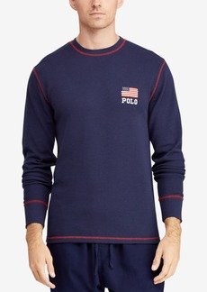 Ralph Lauren Polo Polo Ralph Lauren Men's Big & Tall Waffle-Knit Thermal with Flag Logo