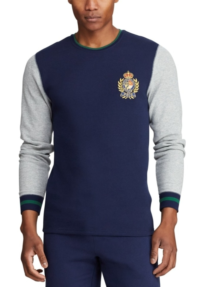 Ralph Lauren Polo Polo Ralph Lauren Men's Big Embroidered Waffle Crewneck Sleep Shirt, Created for Macy's