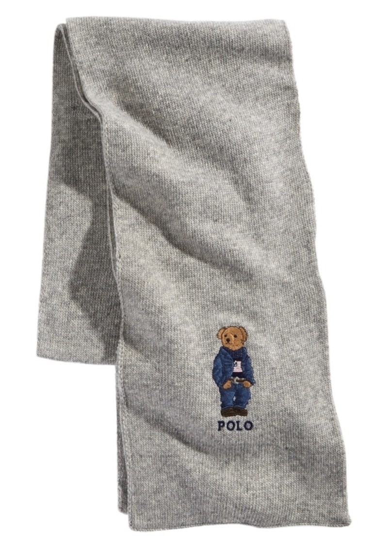 Ralph Lauren Polo Polo Ralph Lauren Men's Blue Jean Polo Bear Scarf