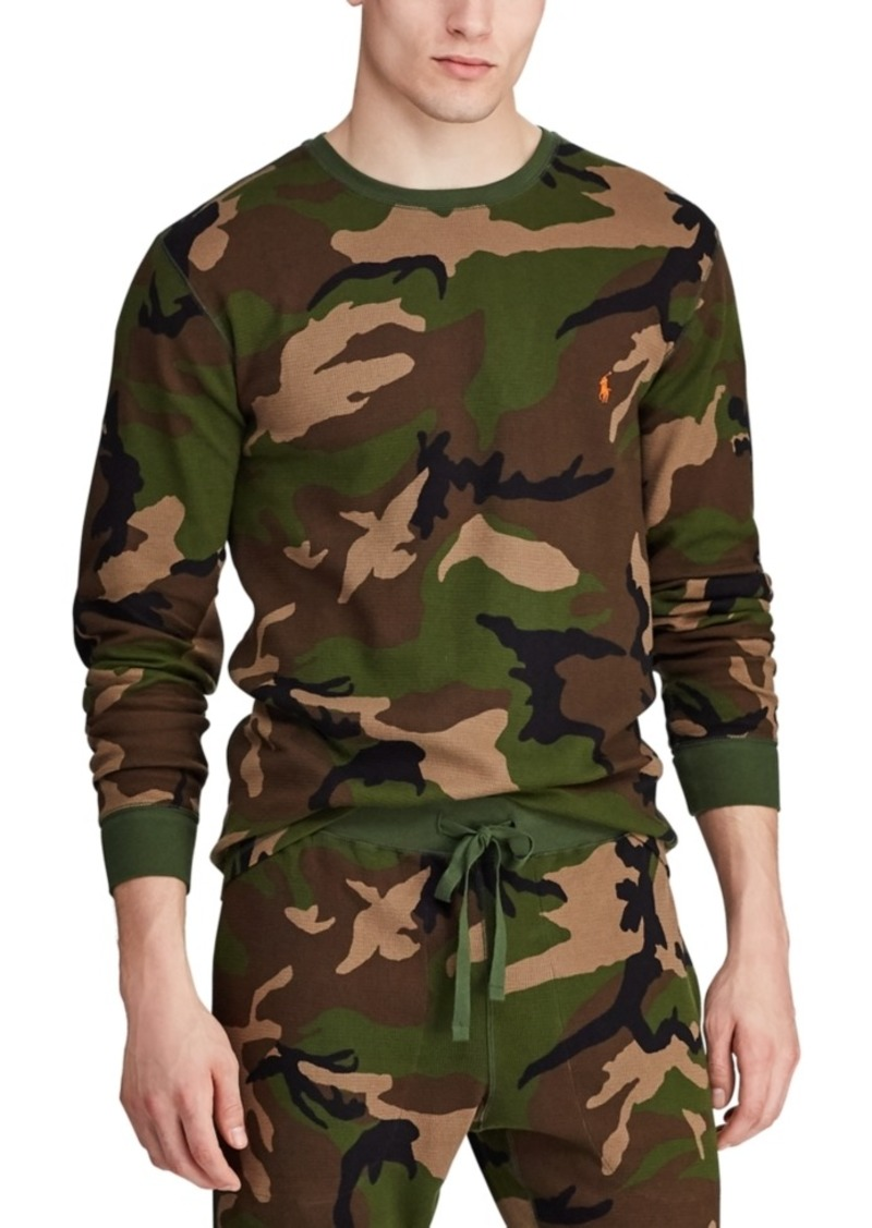 Ralph Lauren Polo Polo Ralph Lauren Men's Camo Print Waffle-Knit Thermal