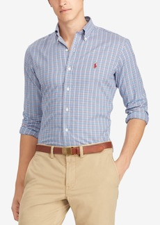Ralph Lauren Polo Polo Ralph Lauren Men's Classic Fit Plaid Twill Cotton Shirt