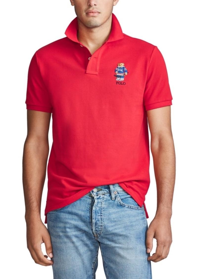 Ralph Lauren Polo Polo Ralph Lauren Men's Custom Fit Polo Bear Mesh Polo Shirt