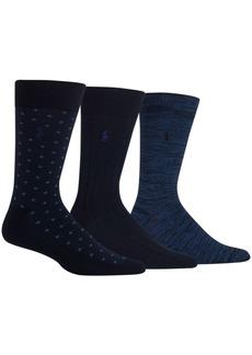Ralph Lauren Polo Polo Ralph Lauren Men's Diamond Dot Dress Socks, 3 Pack