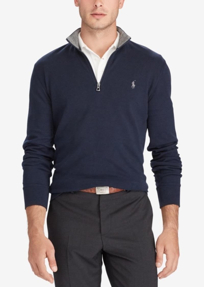 Ralph Lauren Polo Polo Ralph Lauren Men's Double-Knit Mockneck Quarter-Zip Pullover