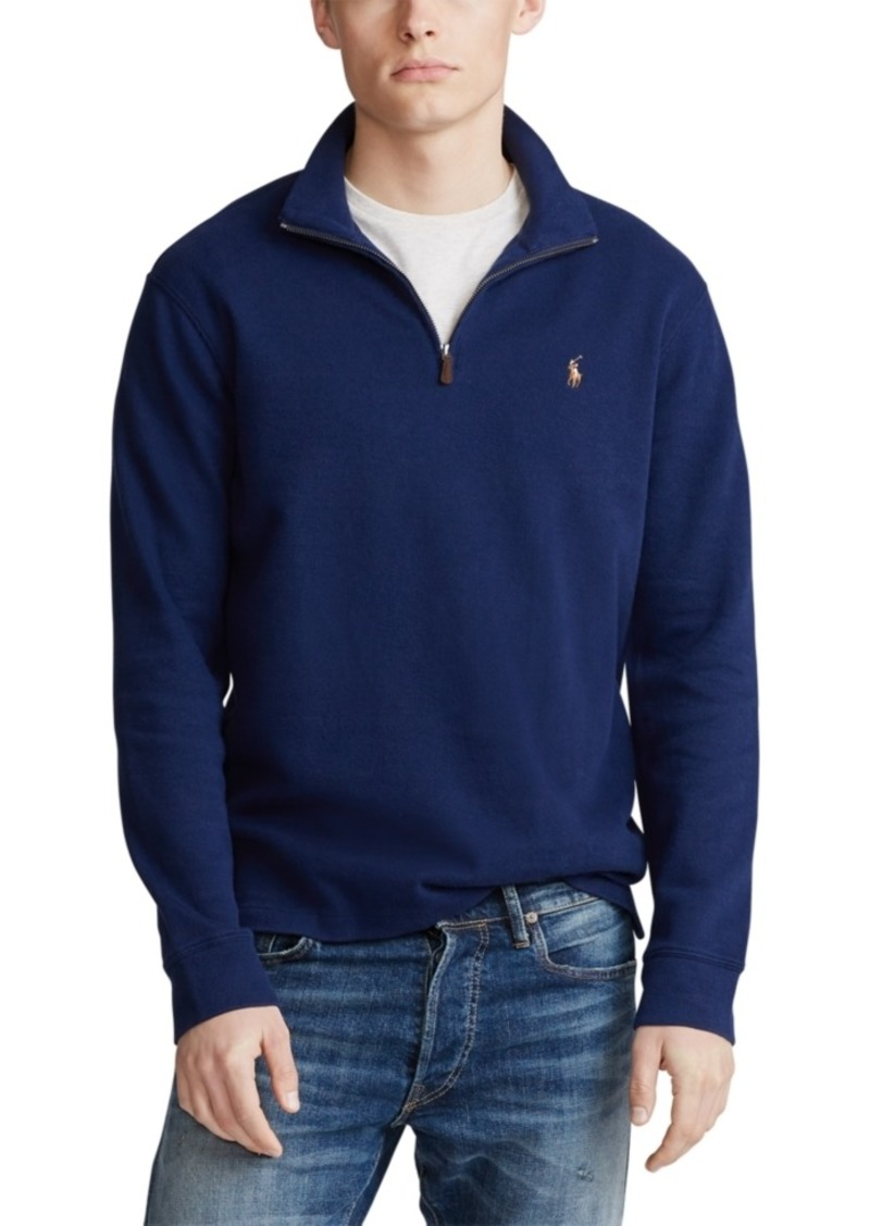 Ralph Lauren Polo Polo Ralph Lauren Men's Estate-Rib Quarter-Zip Pullover, Created for Macy's