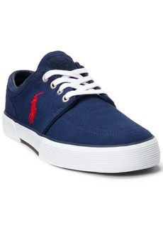 Ralph Lauren: Polo Polo Ralph Lauren Men's Faxon Herringbone Lace-Up Low-Top Sneakers Men's Shoes