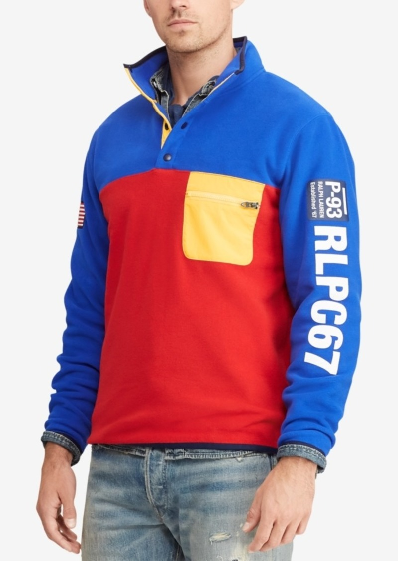 9771f60b4158c Ralph Lauren Polo Polo Ralph Lauren Men s Hi Tech Color-Blocked Pullover