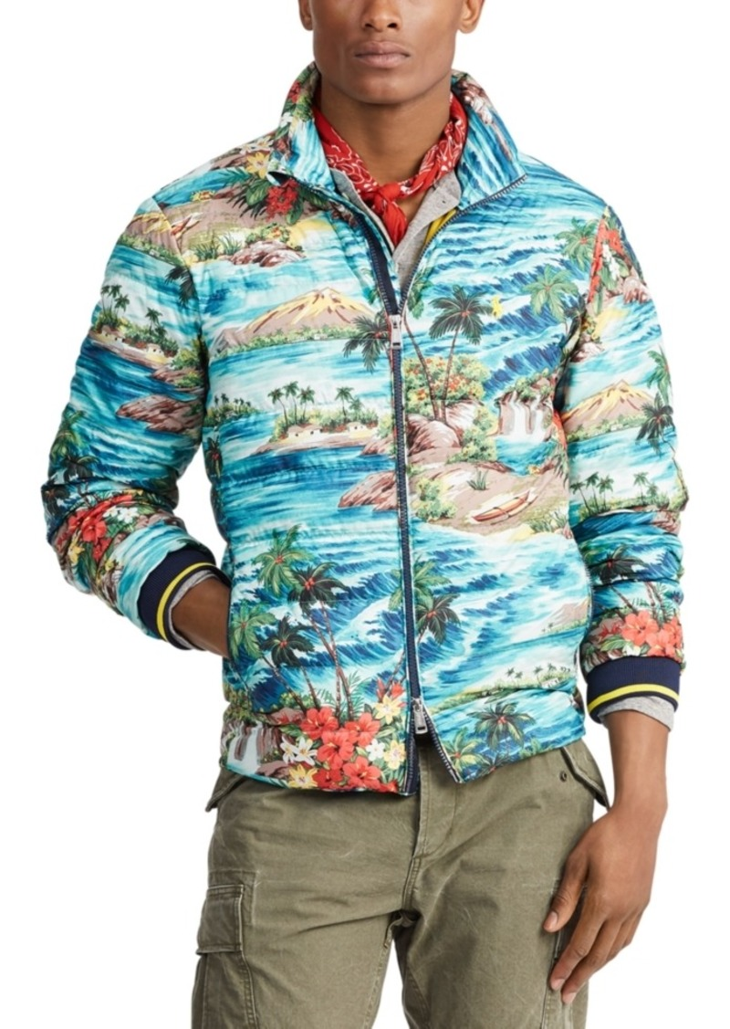 Ralph Lauren Polo Polo Ralph Lauren Men's Holden Packable Down Tropical Print Jacket