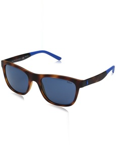 Ralph Lauren Polo Polo Ralph Lauren Men's Injected Man Wayfarer Sunglasses  55 mm