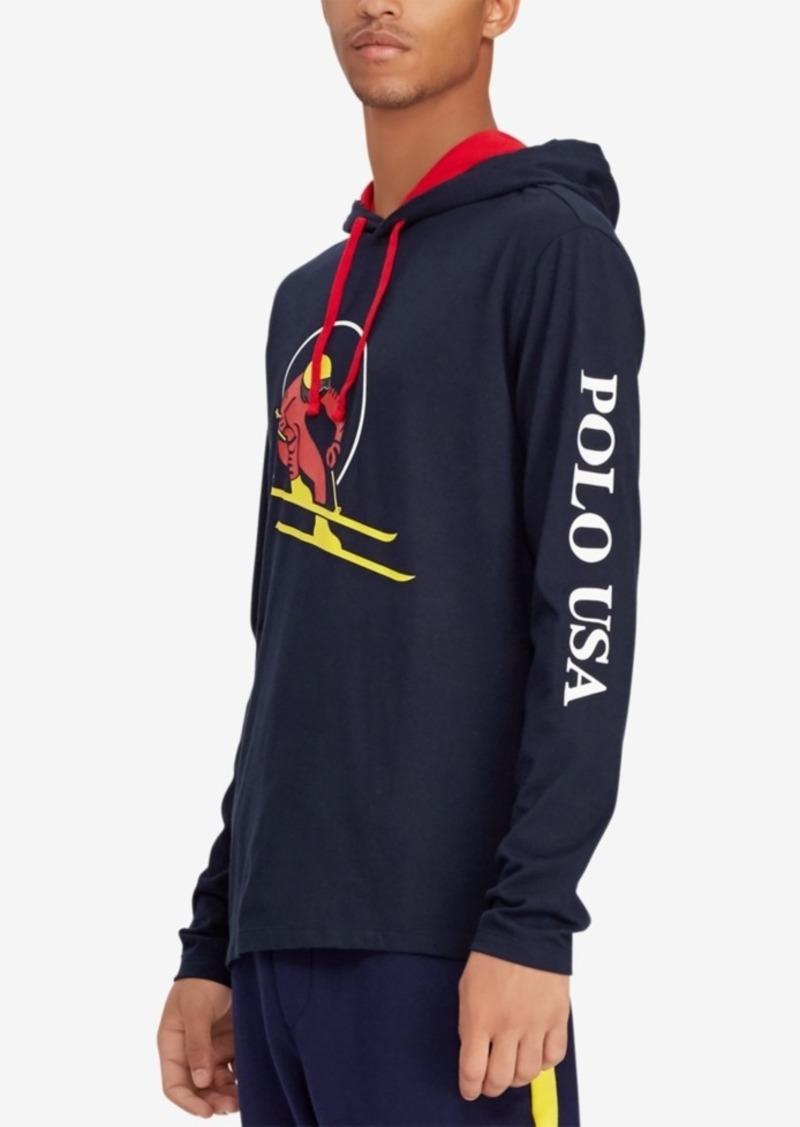 c151985fadf73 Ralph Lauren Polo Polo Ralph Lauren Downhill Skier Men s Jersey Hooded T- Shirt