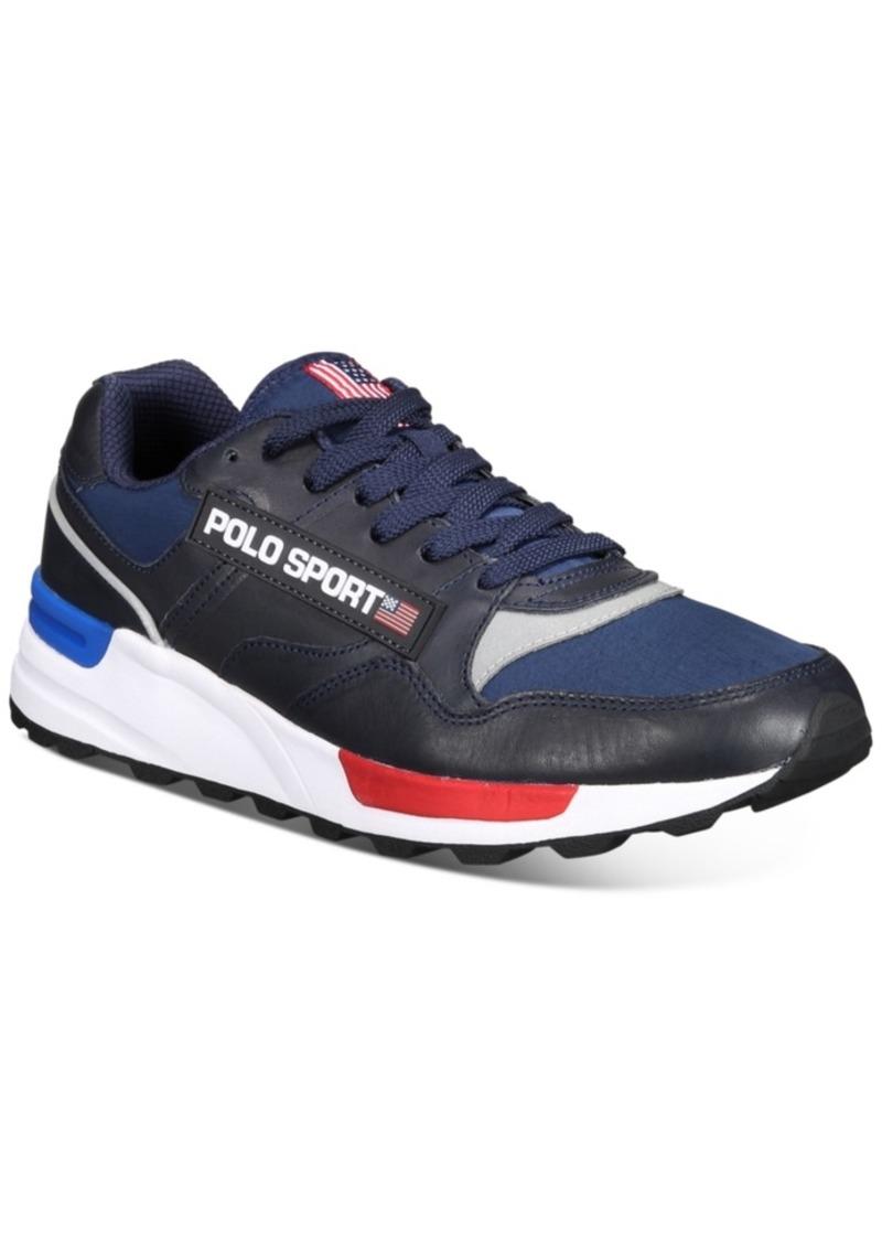 Ralph Lauren Polo Polo Ralph Lauren Men's Leather Track Star Sneaker Men's Shoes