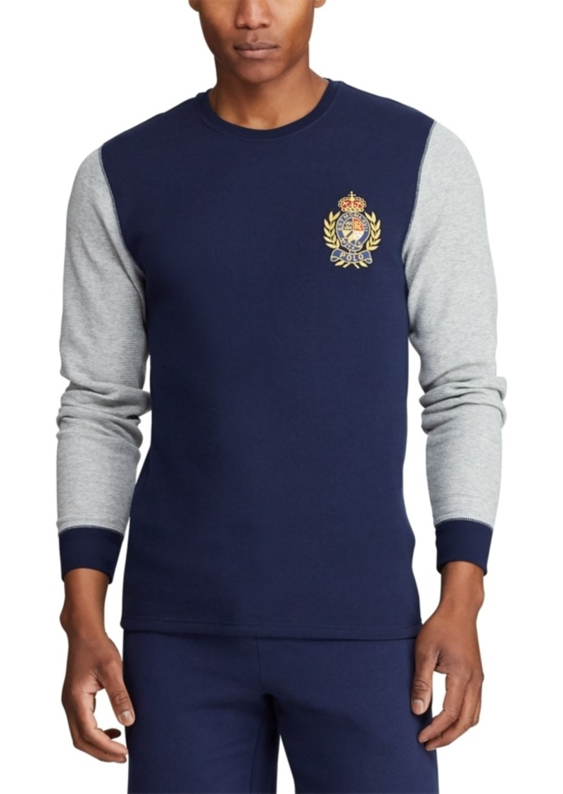 Ralph Lauren Polo Polo Ralph Lauren Men's Logo Crest Waffle Pajama Shirt, Created for Macy's