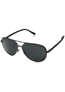 Ralph Lauren Polo Polo Ralph Lauren Men's Metal Man Sunglass Aviator  59 mm