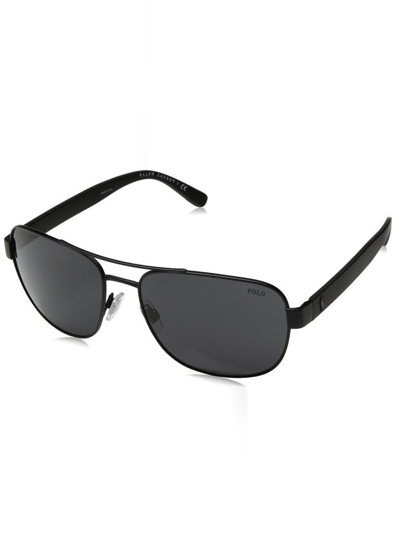 Ralph Lauren Polo Polo Ralph Lauren Men's Metal Man Sunglass 0PH3101 Square Sunglasses  60 mm